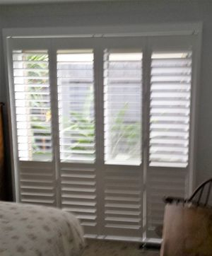White shutters - able to have bottom closed and to open