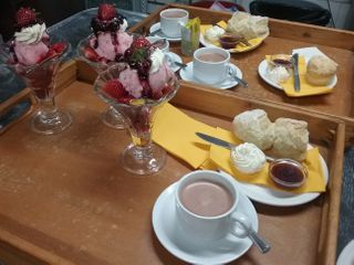 Delicious sundaes and scones in the Farm Cafe