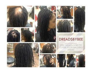 Braids by Bee reattaches natural dreadlocks to the clients natural hair with dread extensions method InstantLocs.