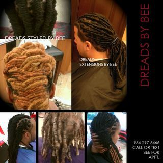 Braids by Bee known to work with all texture hairs creating beautiful Locs in all sizes and colors.