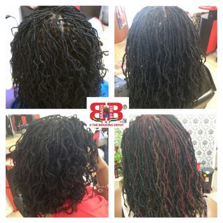 Sisterloc InstantLoc Dread Extensions done at Braids By Bee At The Braiding Depot Inc. Bee is the orignator of these type of natural dreadlocks.