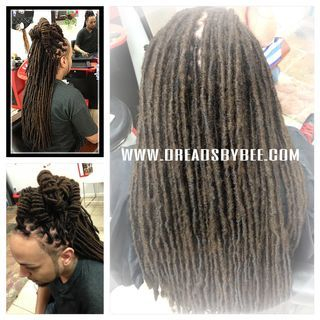Natural Locs protective style called wrapping your natural locs to reinforce heaviness after years of growth