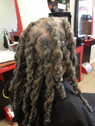 Dreads by Bee was started with his own natural hair and instantlocs to loc in permanently