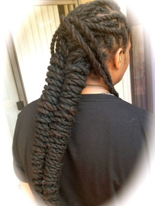 Grow your hair long and healthy with. protective styles like reinforcing roots on thin dreadlocks.