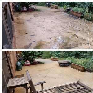 """Before & After"" Pressure Washing"