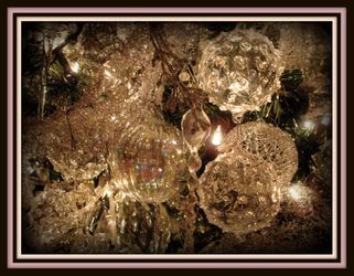 Close up of Crystal decorated Christmas tree