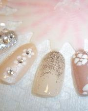 Wedding or Prom nail art
