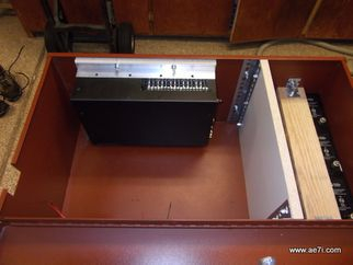 Amplifier container made from a tool box