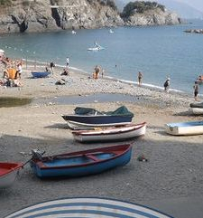 "ours.jpg alt=womens travel, boats on the beach, cinque terre, italy"">"