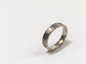 hand made silver textured ring