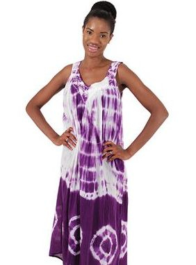 Solid Tie-Dye Design Dress: Purple  Look alluring and lively with this Tie Dye halter dress.