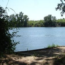 Lower Ebro river banks