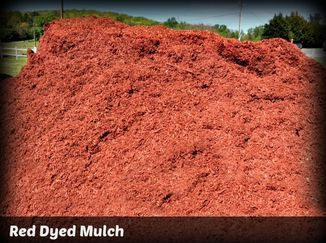Yard 29 Mulch and Stone has red dyed mulch available