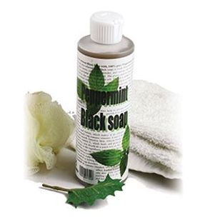 Peppermint Liquid Black Soap: 8 oz   Liquid Black body wash. Peppermint Essential Oil is blended with other natural ingredients to create this astonishingly effective black body wash. 8 oz