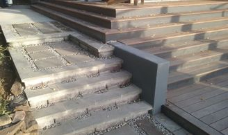 steps with planting pockets