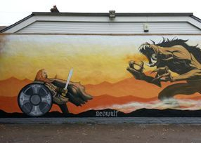 beowulf gredul monster street art