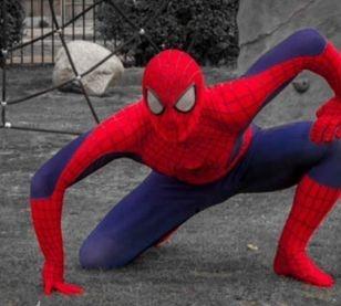 Doorstep visit Spiderman Essex