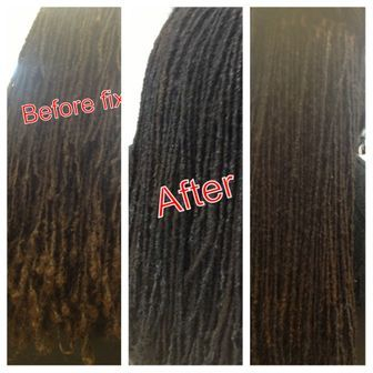 DREAD LOCKS REPAIRED WITH INSTANTLOCS METHOD