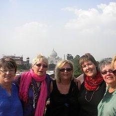 """<img src=""""australian womens travel.jpg alt=womens tours,travel group on rooftop in agra """">"""