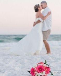 Coral gerber daisy bridal bouquet