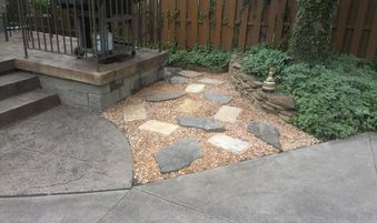 Paver stones Yard barber Lawn Service LLC