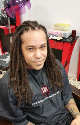 InstantLoc Dread Extensions with Hispanic Natural Hair.