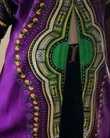 Purple long Dashiki Shirt