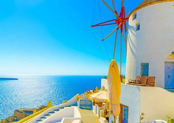 Santorini in the world's heart