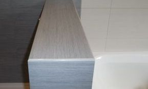 Porcelain ledge, custom made