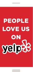 Stamp of approval from yelp
