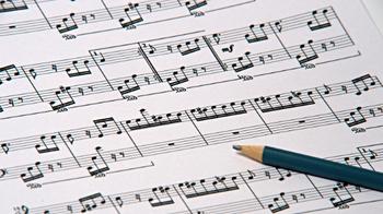 Score study music pencil