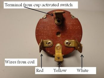 Hamilton Beach 3-speed switch wire terminals.