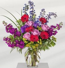Fragrant jewel toned flowers can be taken home after the service.