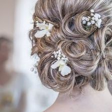 Formal updo hair style for formal occassion