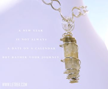 Inspire - Inspirational Quotes, Jewelry Quotes, Tibetian Quartz wrapped in Sterling Silver.
