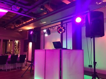 My disco setup at Doubletree Newcastle Airport