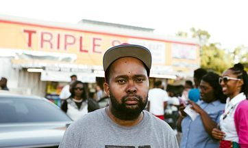 Donney Rose attending a rally at the corner store where Alton Sterling was killed by Baton Rouge Police.