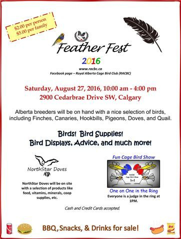 2016 Featherfest Information Poster
