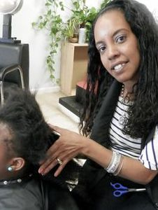 Braids By Bee starts dreadlocks on natural hair on kids.