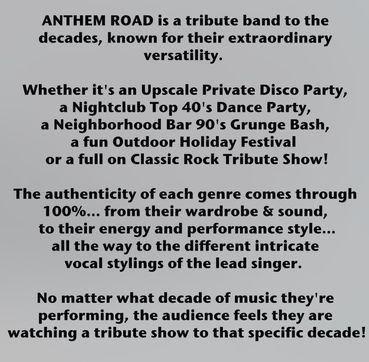 Anthem Road High Energy Pop Rock Dance Party Band