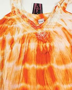Solid Tie-Dye Design Dress: Orange Look alluring and lively with this Tie Dye halter dress.