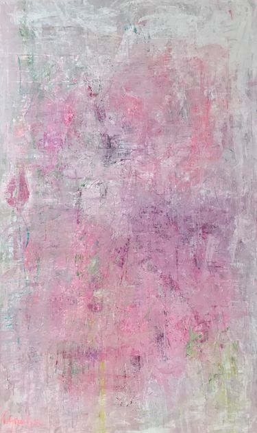 soft pink beautiful abstract painting