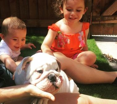 our puppies are very friendly with kids