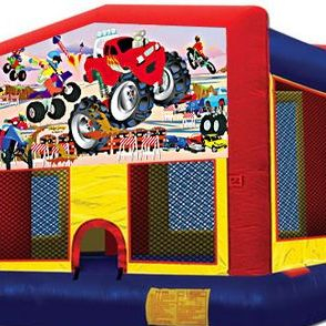 Monster Truck bounce house (13'x13')