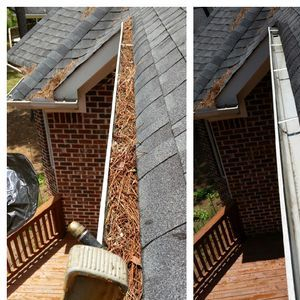 """Gutter Cleaning Before & After"""