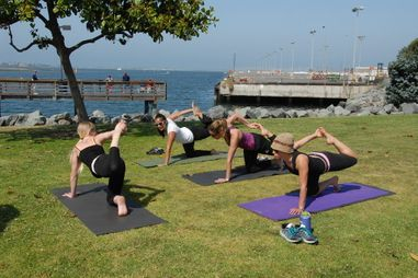 Stretching for fitness with personal training