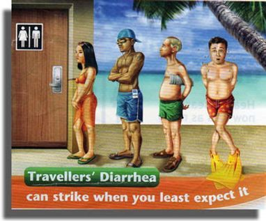 Travelers diarrhea is very common