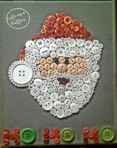 Kerstman gemaakt van knoopjes