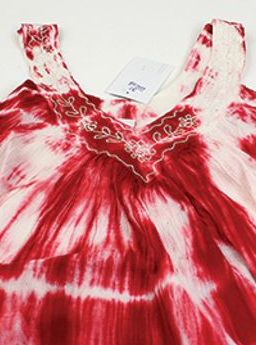 Solid Tie-Dye Design Halter Dress: Red Look alluring and lively with this Tie Dye halter dress