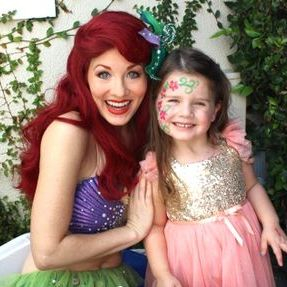 face painting birthday party kids character company los angeles ariel mermaid